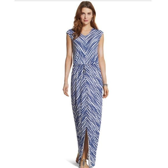 410565ebf35 Chico s Dresses   Skirts - Chico s Tie Front Striped Maxi Dress